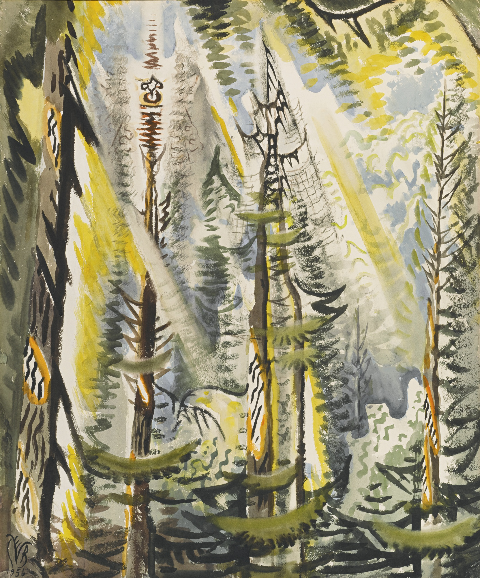 CHARLES BURCHFIELD 1893 - 1967 CICADA SONG IN SEPTEMBER